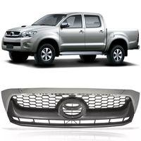 Grade-Dianteira-Toyota-Hilux-Pickup-Sr-Srv-2009-2010-2011-Cinza-Moldura-Cromada