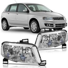 Farol-Fiat-Stilo-2002-2003-2004-2005-2006-2007-Mascara-Cromada-sem-Milha-Plug-Quadrado