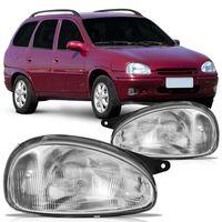 Farol-Chevrolet-Corsa-Picku-Up-Corsa-1994-1995-1996-1997-1998-1999-Mascara-Cromada-Lente-Estriada