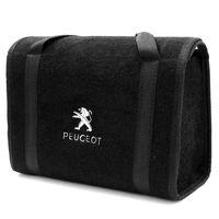 Bolsa-De-Ferramentas-Carpete-Preto-Para-Linha-Peugeot-Logo-Bordado