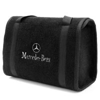 Bolsa-De-Ferramentas-Carpete-Preto-Para-Linha-Mercedes-Logo-Bordado