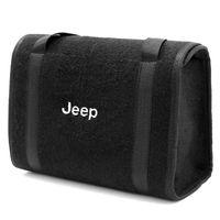 Bolsa-De-Ferramentas-Carpete-Preto-Para-Linha-Jeep-Logo-Bordado