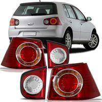 Combo-Par-Lanterna-Traseira-Porta-Malas---Par-Lanterna-Traseira-Canto-Volkswagen-Golf-2007-2008-2009-Bicolor