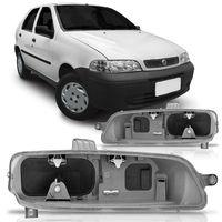 Carcaca-Farol-Principal-Fiat-Palio-Siena-Strada-G2-Weekend-2001-2002-2003-2004-2005-2006-Foco-Duplo-Cinza-