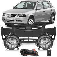 Kit-Volkswagen-Gol-G4-2006-a-2014-Parati-Saveiro-Parachoque-Dianteiro---Kit-Farol-de-Milha-Auxiliar-Botao-Modelo-Original