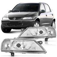 Farol-Chevrolet-Celta-1999-2000-2001-2002-2003-2004-2005-2006-Mascara-Cromada-