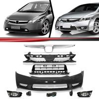 Combo-New-Civic-2007-A-2008-Para-2009-A-2011-Kit-Transformacao-Dianteira
