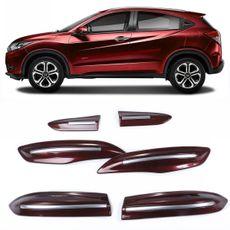 Jogo-Friso-Protetor-Parachoque-Dianteiro-E-Traseiro-Honda-Hr-V-15-16-Modelo-Original-Com-Filete-Crom-