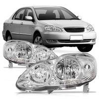 Farol-Toyota-Corolla-2003-2004-2005-2006-2007-2008-2009-Mascara-Cromada