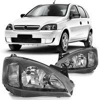 Farol-Chevrolet-Corsa-Hatch-Sedan-G2-2003-2004-2005-2006-2007-2008-2009-2010-2011-2012-Montana-Mascara-Negra-Pisca-Estriado-