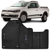 Tapete-Carpete-Grafite-Saveiro-G6-2014-A-2016-Logo-Volkswagen-Bordado-2-Lados-Dianteiro-C