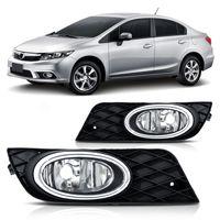 Farol-de-Milha-Auxiliar-Honda-Civic-2012-2013-2014-com-Moldura-Aro-Cromado