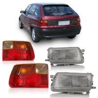 Combo-Astra-Hatch-1993-A-1996-Farol-Antigo-Lente-Estriada---Lanterna-Traseira-Fume
