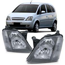 Farol-Chevrolet-Meriva-2001-2002-2003-2004-2005-2006-2007-2008-2009-2010-2011-2012-Mascara-Cinza-