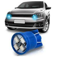 Lampada-4-LEDs-Modelo-Esmagada-T10-12V-Luz-Azul