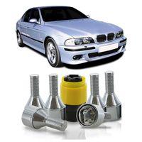 Jogo-De-Parafuso-Antifurto-M12-x-150-Roda-Serie-5-1990-A-2010-51mm-Com-Chave-Codificada