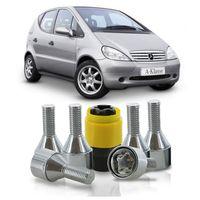 Jogo-De-Parafuso-Antifurto-M12-x-150-Roda-Classe-A-1999-A-2004-51mm-Com-Chave-Codificada