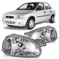 Farol-Corsa-Pickup-Corsa-1994-A-2002-Classic-2003-A-2010-Carcaca-Cinza-