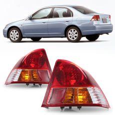 Lanterna-Traseira-Civic-2004-A-2006-Canto-Bicolor-Pisca-Com-Cupula-Ambar