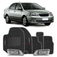 Combo-Corolla-2005-A-2008-Kit-Farol-De-Milha---Tapete-Carpete-Grafite-Logo-Bordado-2-Lados-Dianteiro