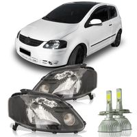 Par-Farol-Fox-2003-A-2007-Mascara-Negra-com-Super-Led-H4-6000K
