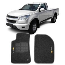 Tapete-Carpete-Grafite-S10-2012-A-2014-Logo-Bordado-2-Lados-Dianteiro-Cabine-Simples-