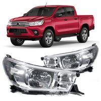 Farol-Toyota-Hilux-2016-2017-Mascara-Cromada-Foco-Simples