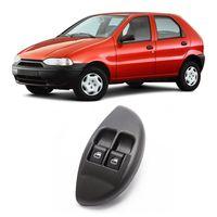 Botao-Interruptor-Duplo-Vidro-Eletrico-Dianteiro-Palio-Young-2001-A-2002-Led-Verde-Com-Moldura-Lado-Esquerdo