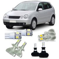 Kit-Polo-2003-A-2006-Super-Led-H1---Ultra-Led-H3---Super-Led-H7-e-Pingo-Led-