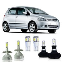 Kit-Fox-2003-A-2007-Lampadas-Ultra-Led-H3-Super-Led-H4-6000k-com-Reator---Pingo-Led