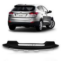 Moldura-Overbumper-Parachoque-Traseiro-Hyundai-IX35-2009-2010-2011-Preto-com-Prata